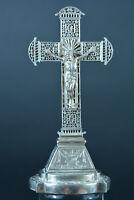 Little & beautiful religious bronze altar crucifix 19Thc rare model