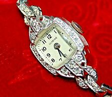 "PLATINUM DIAMOND ""GLYCINE"" LADIES WATCH 58 FULL ROUND CUT DIAMONDS"