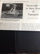 M9-5 Ephemera 1960 Article Hovercraft Fonda Wernicke Usa