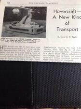 M9-5 Ephemera 1960 Article Hovercraft Fonda Wernicke Usa
