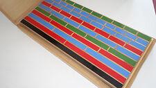Bruchrechnung Lernspiel Holz Kasten Schule Anschauungsmaterial 60er vintage