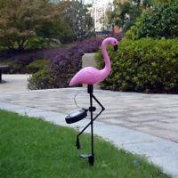 Solar Light Flamingo Ornament Lawn Yard Garden Lamp Landscape Led Decoration