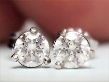 .50 CT DIAMOND STUD EARRINGS G VS2 14KT SOLID GOLD EXCELLENT CUT $2,495.00