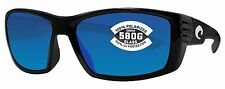 Costa Del Mar cortez shiny black frame blue mirror glass 580G lens new