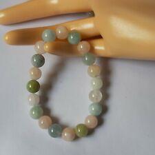 Morganite natural stone beads bracelet 9mm