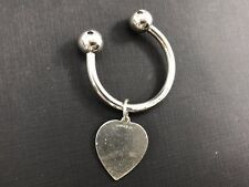 Tag on Large Sterling Key Ring Vintage Tiffany & Co Sterling Silver Heart
