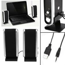 More details for black for pc laptop computer desktop portable usb stereo speakers system