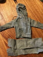 "G.I. Joe Grey Hooded Jacket with Pants for 12"" Figure Hasbro Hong Kong Good Cond"