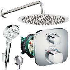 Unterputz Duschsystem mit Kopfbrause Ø300 mm, Hansgrohe Ecostat E Thermostat Bad