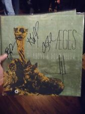 AEGES Rock Band Musicians Signed Above and Down Below Vinyl LP Record Brand New