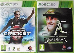 International Cricket 2010 and Don Bradman Cricket 14 Microsoft Xbox 360