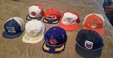 Vintage Snapback Trucker gas & oil Hats Lot Of 8!  GULF, UNION 76, CHEVRON