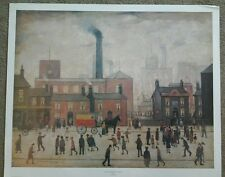 """'89 poster print of 1928 Pendleton Salford  By L S LOWRY 22X28"""""""
