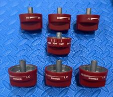 """WOLF RED KNOB SET (7 piece) FOR 36"""" RANGES, see pics."""