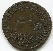 Netherlands,1681: Treasurer jeton, Dub 4464, 30mm