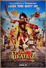 THE PIRATES! BAND OF MISFITS DS ROLLED ORIG 1SH MOVIE POSTER AARDMAN (2012)