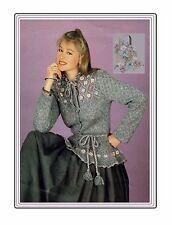 Ladies jacket knitting pattern in 4 ply yarn. in sizes 34, 36 in,