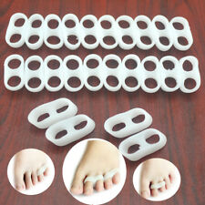 16Pcs Silicone Gel Foot Finger Two Hole Toe Separator Thumb Valgus Protect D0173