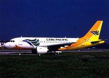 Cebu Pacific Air , Airbus A319-111 , Ansichtskarte