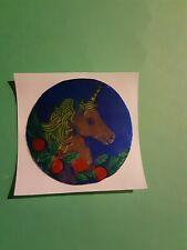 vintage 80's Russ mylar unicorn sticker *restored*(free ship $20 min)