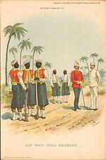 1896 Richard Simkin Military Print, 108 The West India Regiment