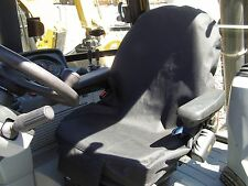 BACKHOE SEAT COVER, FORKLIFT, TRACTOR, SKIDSTEER , PHONE POCKET, BLACK