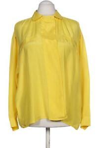Oui Bluse Damen Oberteil Hemd Gr. EUR 42 (DE 40) Seide gelb #867d183