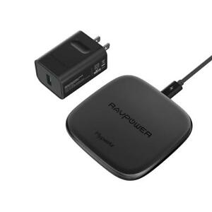 RAVPower 7.5W Fast Wireless Charger For IPhone X, 8 With HyperAir 10W Qi Samsung