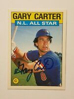 1986 TOPPS TIFFANY GARY CARTER ALL STAR CARD AUTHENTIC AUTOGRAPH