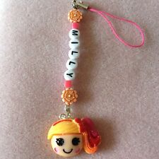 LALA LOOPSY PERSONALISED Charm BAG /PHONE CHARMS party gift Pink/Red Any Name