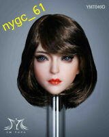 YMTOYS YMT049D 1/6 Asia Beauty Girl Head Carving 12'' Phicen Suntan Figure Head