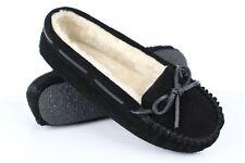 Minnetonka Moccasins Women's Cally Slipper Size 7 Black # 4014