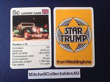 Waddington Star Trump 1978 Single card Luxury Cars Panther J72
