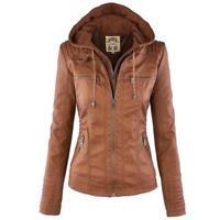 Abrigo para mujer de cuero casual,Leather Jacket Women Casual Basic Coats Ladies