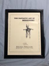 Zdzislaw Beksinski Signed Autographed Framed Print HR giger Rare Oop