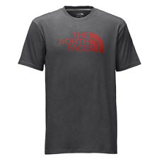 The North Face Mens Short-Sleeve Half Dome Tee T-shirt TNF Dark Grey Heather/Red