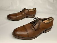 FLORSHEIM OXFORD 10 D Mens Brown Deer Tanned Soft LEATHER CAP TOE Dress Shoes