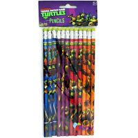 TMNT Teenage Mutant Turtles Pencils x 12 Birthday Party Loot Bag Prize Favours