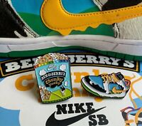 Ben Jerry Nike SB Chunky Dunky Collectible Pins Ice Cream Sneaker Extremely Rare