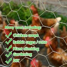 Galvanised Wired Mesh Garden Fencing Chicken Coop Netting Plant Climbing Wire 5m