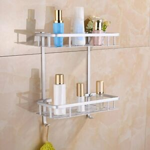 Kitchen Home Wall Shelf Rack Holder Bathroom Shelf Holder For Shampoos Shower Ge