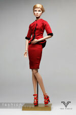 FR1184 The Vogue Red  Formal Office Suit Set for Barbie Fashion Royalty FR2 Pop