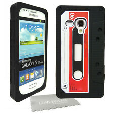 BLACK Retro  Gel Cassette Tape Phone Case / For Samsung Galaxy S3 Mini  i8190