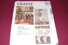 McCalls Pattern # 7285 - Let It Snow Snowman Christmas Decorations - NEW