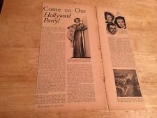 SHIRLEY TEMPLE - Vintage 1936 Article
