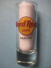 KRAKOW,Hard Rock Cafe,Shot Glass,New,Red Circle,Black Letters