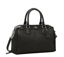 Coach Shearling Mini Bennett  Satchel Handbag in BLACK/BLACK  F 36689