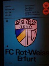 Carl Zeiss Jena - FC Rot Weiss Erfurt DDR-Oberliga 1974/75 (05.04.) Programm