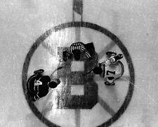BOSTON GARDEN Bruins PHIL ESPOSITO vs Canadiens JEAN BELIVEAU Glossy 8x10 Photo