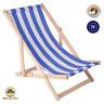 Liegestuhl Holz Strandliege Sonnenliege Gartenliege Buchenholz Liege 120 kg